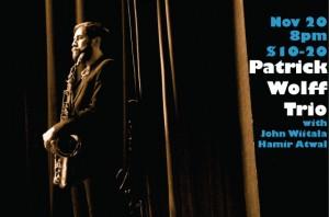 Patrick Wolff Trio at Porto Franco Art Parlor